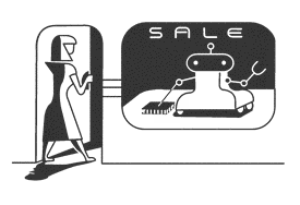 Woman sees robot on sale