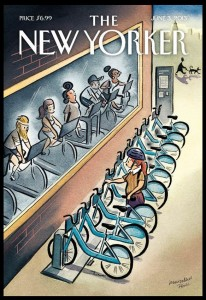 Urban Cycles, New Yorker cover by Marcellus Hall